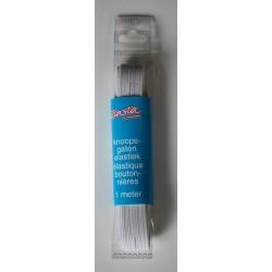 Elasta knoopsgat elastiek wit
