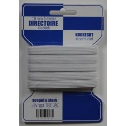 Directoire elastiek wit 10mm | Blauwe kaart elastiek