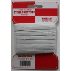 Stevig elastiek wit 6 mm 10 meter /rode kaart