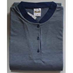 Nachthemd blauw lange mouw nr. 10 | Maat L | Lunatex