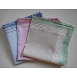 Katoenen dames zakdoeken 6 stuks 32x32cm nr. 31