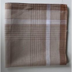Katoenen zakdoeken per stuk bruin nr. 9