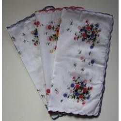 Katoenen dames zakdoeken 6 stuks 30x30cm