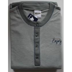 Damespyjama Lunatex grijs/groen dubbel jersey maat L nr. 15