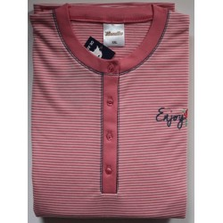 Damespyjama Lunatex roze dubbel jersey maat XXL nr. 4