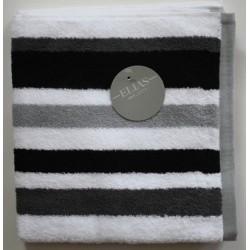 Handdoek Elias grijs/zwart/wit gestreept 60x110cm| Badhanddoeken