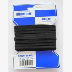 Directoire elastiek zwart 6 mm / kaartje elastiek