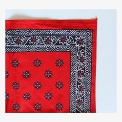 Rode boeren zakdoeken ca. 43.5x43.5 cm