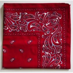 Boeren zakdoeken rood ca. 63x63cm