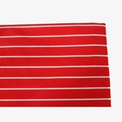 Halterschortje rood met streepjes no.1