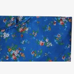 Halterschort donkerblauw met bloemetjes no.14
