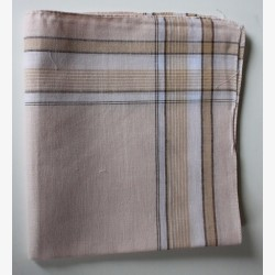Katoenen zakdoeken per stuk bruin nr. 6