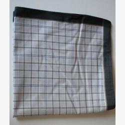 Katoenen heren zakdoeken per stuk grijs 10