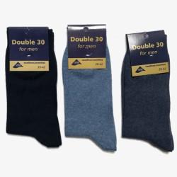 Double 30 sokken blauw