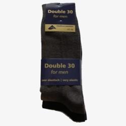 Double 30 sokken bruin