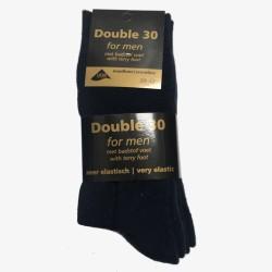 Double 30 sokken donkerblauw badstof voet