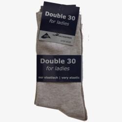 Double 30 for ladies beige tinten damessokken