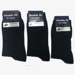 Double 30 for ladies donkerblauw damessokken