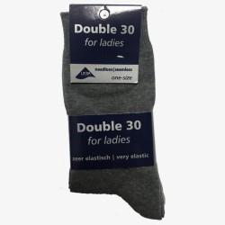 Double 30 for ladies grijze tinten damessokken