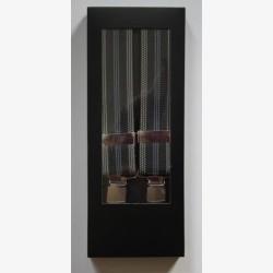Bretels met brede band grijs/blauw nr. 16 | Heren bretels