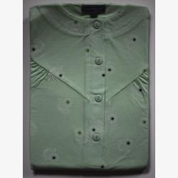 Nachthemd korte mouw groen 3 | Maat S | Damesnachthemden