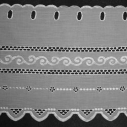 Valletje nr. 116 wit 27cm hoog | Korte vitrage valletjes