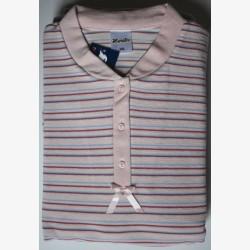 Damespyjama nr.5 Lunatex badstof roze XXL