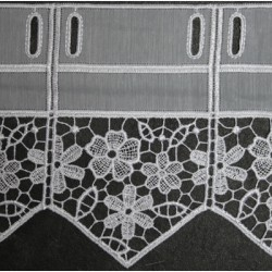 Valletje nr. 315 hoogte 17cm wit  Korte vitrage