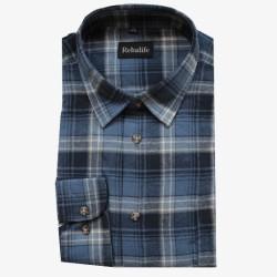 Flanellen overhemd maat L nr. 8   Heren overhemden Rebalife