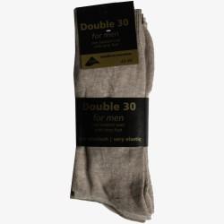 Double 30 sokken beige badstof voet