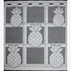 Valletje nr.331 wit met ananas 50cm hoog | Valletjes gordijn