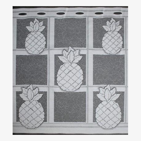 Valletje nr.331 wit met ananas 50cm hoog   Valletjes gordijn