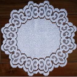 Kanten kleedje wit diameter 30 cm