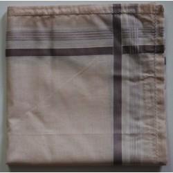Katoenen heren zakdoeken per stuk ajour bruin nr. 18
