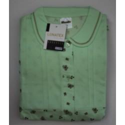 Damespyjama Lunatex maat XXL nr. 7 doorknoop bewerkte broek en kraagje